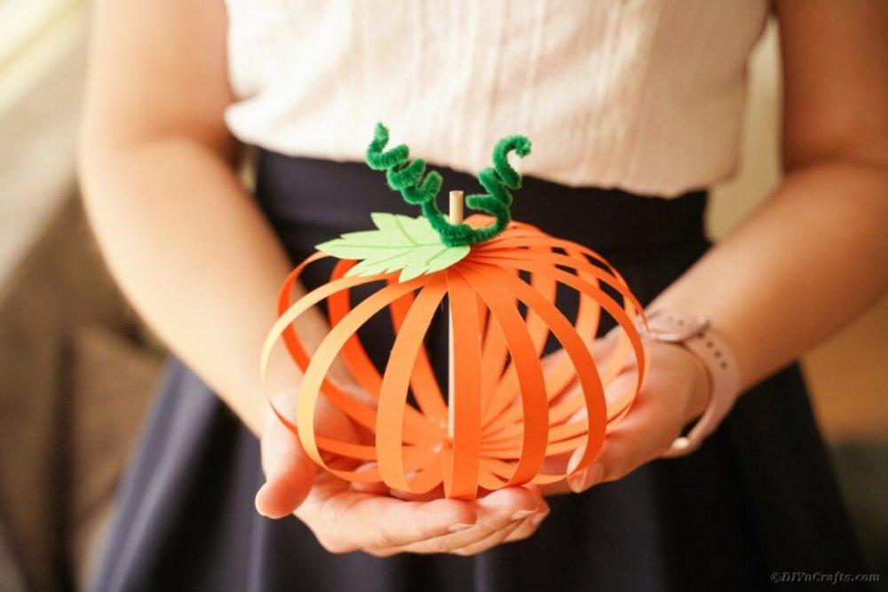 dýně z papíru podzim halloween pro děti