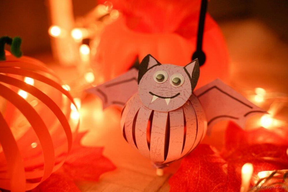 netopýr z papíru podzim halloween pro děti