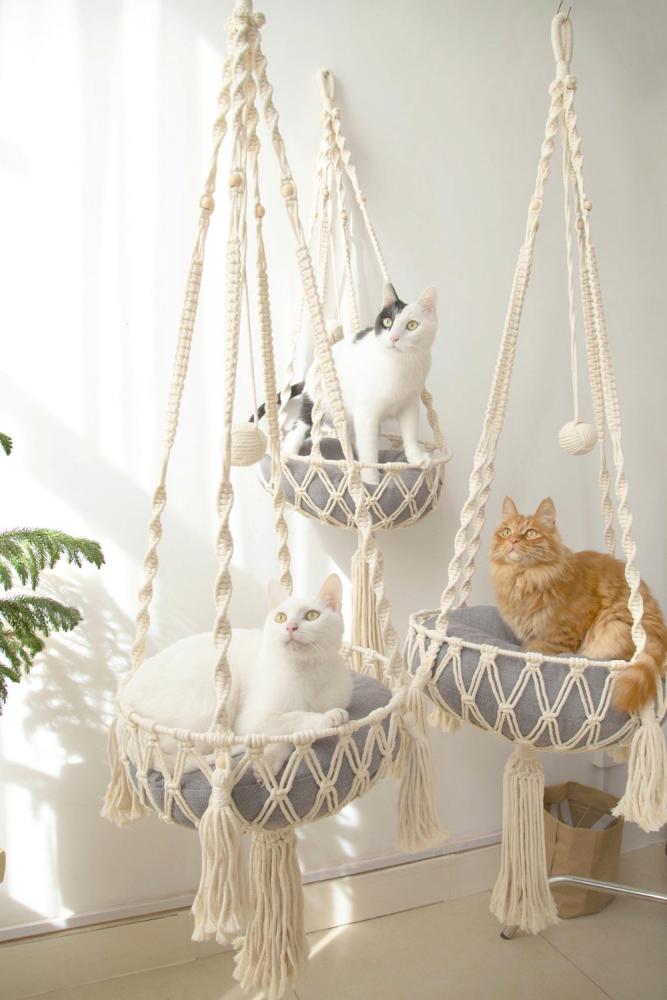 Macramé kočky